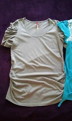 Red Herring and New Look maternity Size 12 short sleeve t-shirt top bundle