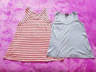 Mamas&Papas and Red Herring maternity Size 12 sleeveless vest t-shirt top bundle