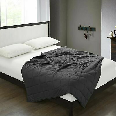 """Breathable 100%Cotton Weighted Blanket for Adults 60""""x 80"""" 20lbs Queen King Bed"""