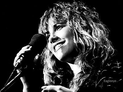 STEVIE NICKS Gloss 8x10 Photo Music Poster Fleetwood Mac Print Black & White