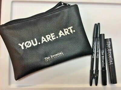The BrowGal Tonya Crooks You.Are.Art Eyebrow 5 Pc Kit  NEW w/Case Free Shipping!