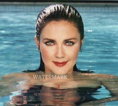 Gorgeous Lynda Carter Actress Wonder Woman In Pool Sexy Wet Hair Publicity Photo