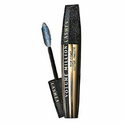 0818f96123a L'OREAL Top Coat Volume Million Lashes Transparent Mascara with Glitter  Makeup