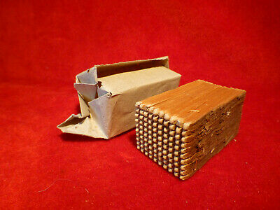 Rare Complete Civil War Era Block Of 100 Matches In Original Wrapping From 1861