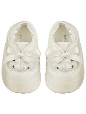John Lewis Baby Laced Shoes / Cream 6-12 Months Brand New Free Uk Postage