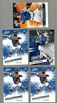 Kyle Schwarber LOT of 5 Rookie 2016 Panini Cards - RC - Chicago Cubs - Serial #