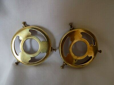 2 BRASS LIGHT FITTINGS / GALLERIES 2 and 3/4 inches