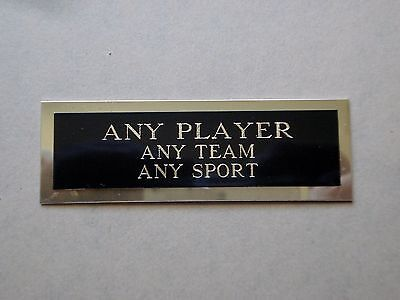 """Any Player Nameplate For An Autographed Basketball Card Plaque 1"""" X 3"""""""