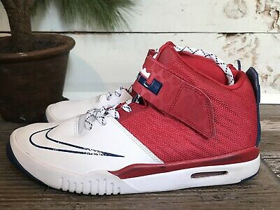 official photos d1a35 9afcd Nike Air Akronite Gs Big Kids 819832-604 Red White Blue Lebron Shoes Size  6.5