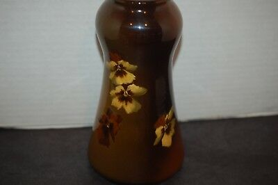 Early 1940s Roseville Rozane Ware Royal Pansy Vase R-974