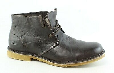 UGG Mens Leighton Chocolate Ankle Boots Size 9.5 (3E) (283532)