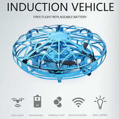 Infraed Induction RC Drone Aircraft Mini UFO Ball LED Helicopter Toys For Kids