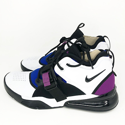 lowest price 245b7 a5c7a Nike Air Force 270 Men s Shoes White Black Lyon Blue AH6772-101