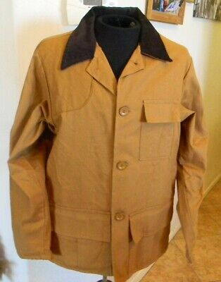 b6e6f1437aff0 VTG 60s BLUE BILL CANVAS GAME HUNTING FIELD JACKET BY RED HEAD Sz LARGE  MADE USA
