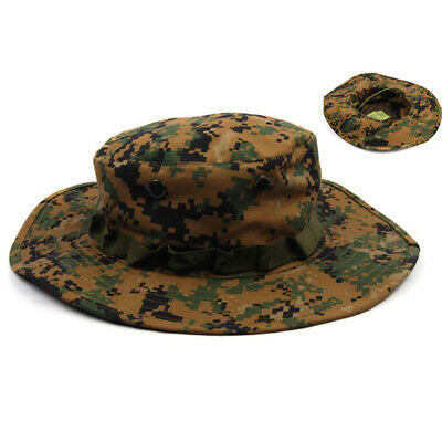 021c4526 Military Boonie Hat Camping Hiking Fishing Wide Brim Camouflage Bucket Cap  Hat