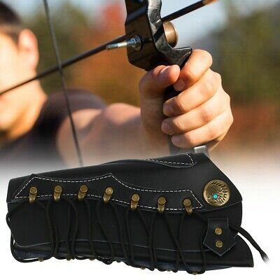 Hunting Shooting Compound Recurve Archery Bow Arrow Arm Guard Protector Armband