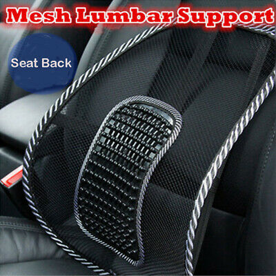 Black Mesh Back Lumbar Support Vent Cushion for Car Truck Seat Office Home Chair