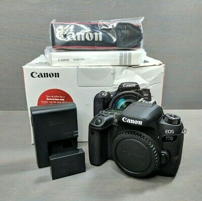 Canon EOS 77D 24.2 MP Digital SLR Camera - Black (Body Only)