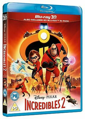 SEALED Incredibles 2 3D 2D blu-ray disc set region-free 2018 Disney Pixar the uk