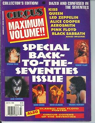 Circus Magazine July 31 1994 Kiss Queen David Bowie Led Zeppelin Pink Floyd 70's