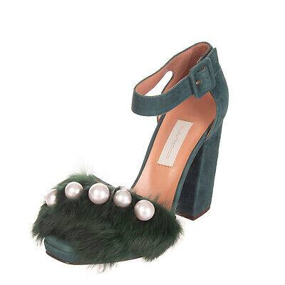 Clothing, Shoes & Accessories Able Rrp €615 Vic Matie Calf Hair & Rabbit Fur Mules Size 40 Uk 7 Heel Made In Italy Latest Technology