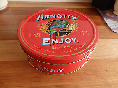 "Collectable Arnott's "" Enjoy ""  Biscuit Tin. ."