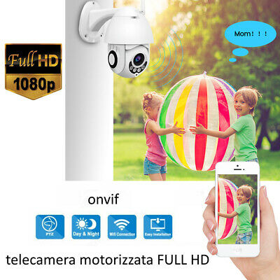 TELECAMERA IP PTZ ZOOM 1080P HD FULL COLOR IP CAMERA MOTORIZZATA IR WIFI 3.6mm