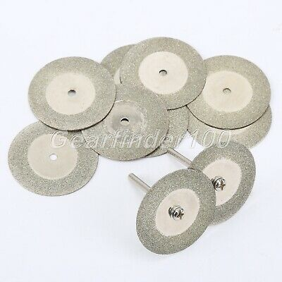 HQ Diamond Cutting Wheel Disc Cut Off 10x 35mm Stone Glass Metal Rotary Grinder