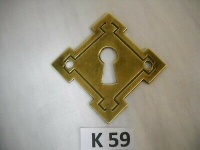 Antique Victorian Brass Keyhole Cover Eastlake Style