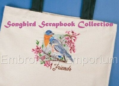 Songbird Scrapbook Collection - Machine Embroidery Designs On Cd Or Usb