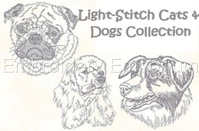 Light-Stitch Cats & Dogs Collection - Machine Embroidery Designs On Cd Or Usb