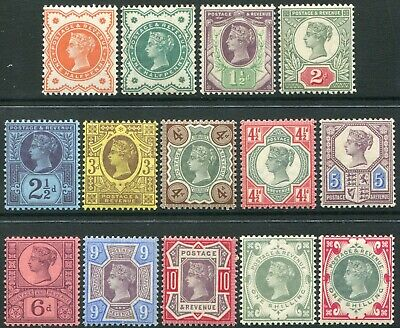 1887-1900 Jubilee Issue Sg 197-Sg 214 Average Mounted Mint Single Stamps