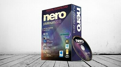 NERO PLATINUM 2018 for Windows PCs. DIGITAL DOWNLOAD - Windows 10 Compatible