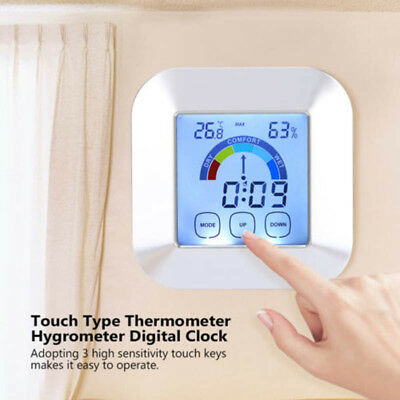 1X LCD Thermometer Hygrometer For Sauna Room Temperature Humidity Meter Tester