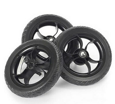 New Out n about nipper eva wheel set of 3 black for v2 v3 & v4 single & double