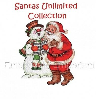 Santas Unlimited Collection - Machine Embroidery Designs On Cd Or Usb