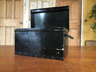 Vintage Garrison Made Metal Box Metal Trunk Storage Planter