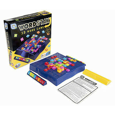 Wordstax Upwords Scrabble 3D Family Spelling Board Word Tile Game Toy R03 0331