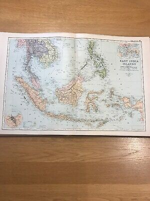 1897, Map of EAST INDIA ISLANDS, Bacon's Popular Atlas Of The World