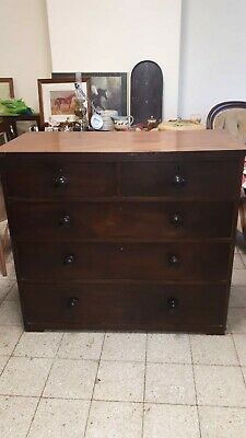 Victorian Mahogany Chest Of Drawers, Restoration.