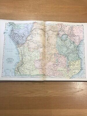 1897, Map of CENTRAL AFRICA, Bacon's Popular Atlas Of The World