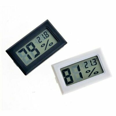 Mini Digital Temperature Humidity Thermometer Glass House Hygrometer Guage White
