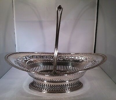 Antique silver plated fruit basket Walker & Hall, Sheffield 1921