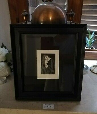 ARTHUR GASKIN c1920 rare, signed Arts and Crafts woodcut print 'The Sisters'