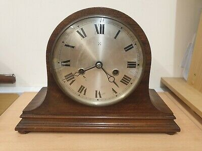 HAC C1920 8 Day Striking Mantel Clock In Working Order Mahogany Case