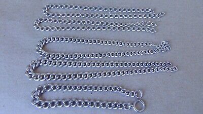 Antique 5 Sterling Silver Pocket Watch Chains, 72 Grams