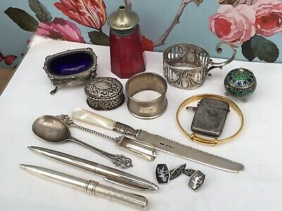 A Mixed Lot of Mainly Antique and Vintage Silver Items.