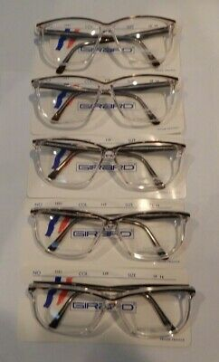 Vintage 5 Pc. Girard 5001 Col. 149 58/14 Eyeglass Frame Lot New Old Stock #317