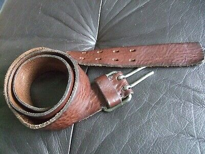 NEXT LEATHER BELT ITALY 36-38 INCH with double prong buckle BROWN