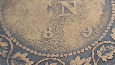 1899 C4 Canada 1 One Cent Large Penny Copper Circulated Victoria Coin J453